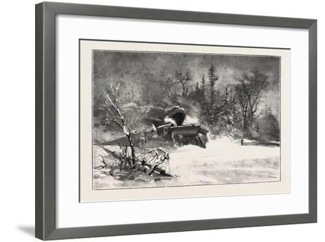 Triumph of the Snow-Plough, Canada, Nineteenth Century--Framed Art Print