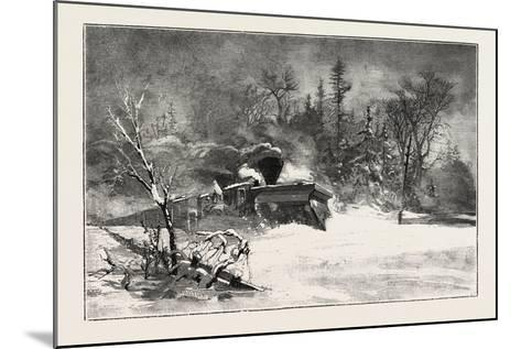 Triumph of the Snow-Plough, Canada, Nineteenth Century--Mounted Giclee Print