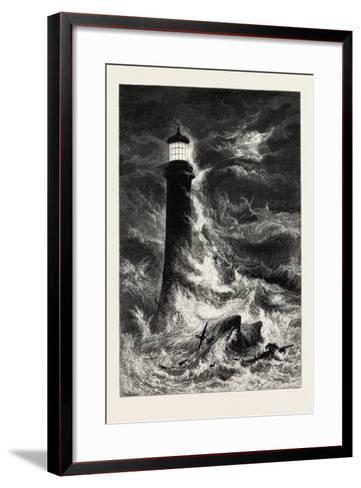 Eddystone Lighthouse, the South Coast, UK, 19th Century--Framed Art Print