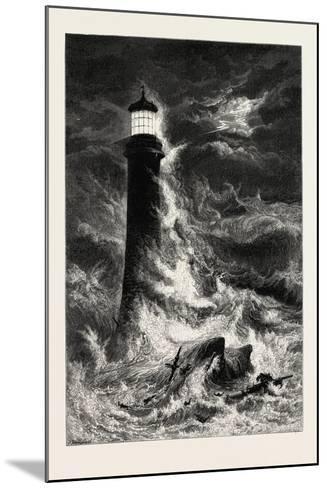 Eddystone Lighthouse, the South Coast, UK, 19th Century--Mounted Giclee Print