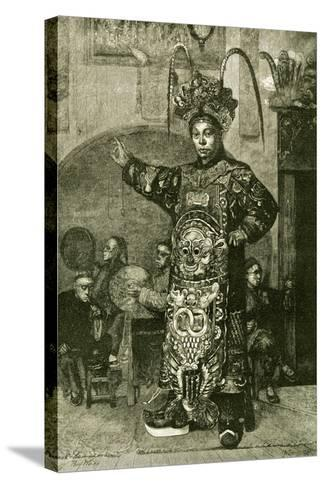 San Francisco a Chinese Actor in the Theatre 1891, USA--Stretched Canvas Print