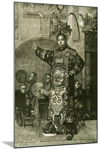 San Francisco a Chinese Actor in the Theatre 1891, USA--Mounted Giclee Print