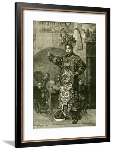 San Francisco a Chinese Actor in the Theatre 1891, USA--Framed Art Print