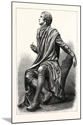 Statue of the Scottish Poet Robert Burns, 1759 1796--Mounted Giclee Print