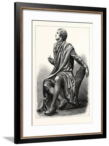 Statue of the Scottish Poet Robert Burns, 1759 1796--Framed Art Print