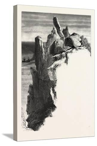 The Logan Rock, the Land's End, Uk, 19th Century--Stretched Canvas Print