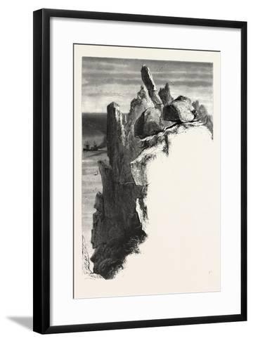 The Logan Rock, the Land's End, Uk, 19th Century--Framed Art Print