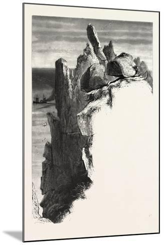 The Logan Rock, the Land's End, Uk, 19th Century--Mounted Giclee Print