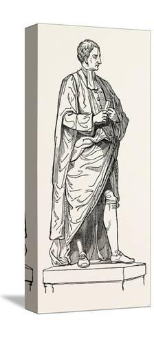 Roubiliac's Statue from the Chapel of Trinity College--Stretched Canvas Print