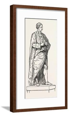 Roubiliac's Statue from the Chapel of Trinity College--Framed Art Print