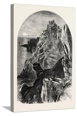 Penolver Point, the South Coast, UK, 19th Century--Stretched Canvas Print