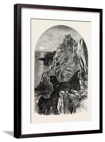 Penolver Point, the South Coast, UK, 19th Century--Framed Art Print