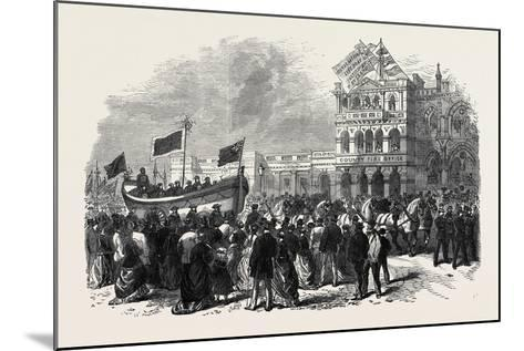 Lifeboat Festival Procession at Exeter, UK, 1869--Mounted Giclee Print