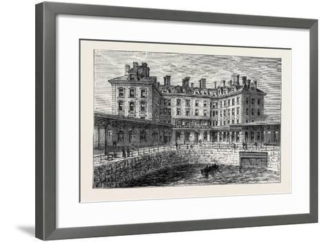 The New Hotel and Railway Terminus Holyhead 1880--Framed Art Print