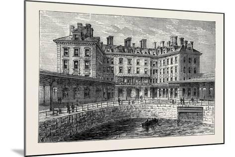 The New Hotel and Railway Terminus Holyhead 1880--Mounted Giclee Print