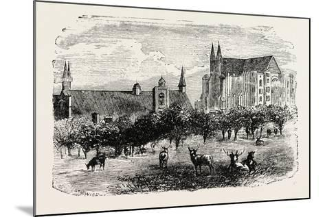 Westminster Abbey and Hall in the 15th Century--Mounted Giclee Print