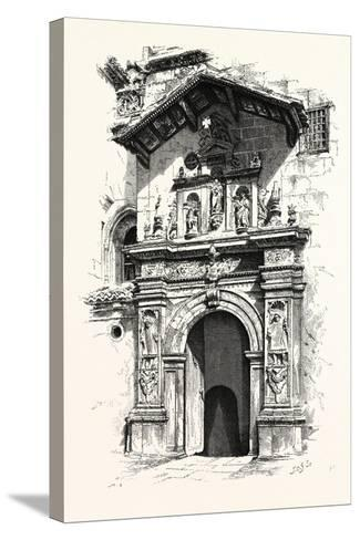 Entrance to the Tomb of Ferdinand and Isabella--Stretched Canvas Print