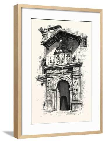 Entrance to the Tomb of Ferdinand and Isabella--Framed Art Print