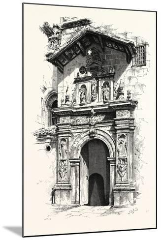 Entrance to the Tomb of Ferdinand and Isabella--Mounted Giclee Print