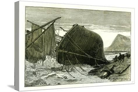 Dover U.K. 1887 Wreck of the Russian Vessel Joutsen--Stretched Canvas Print