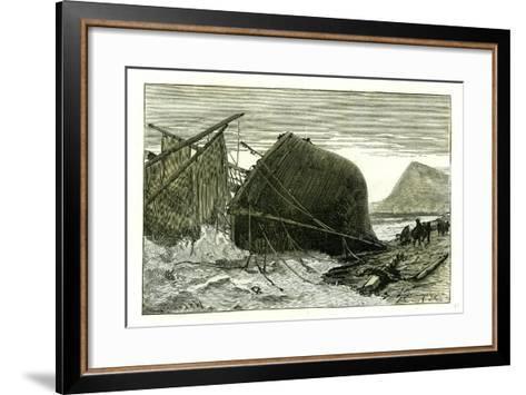 Dover U.K. 1887 Wreck of the Russian Vessel Joutsen--Framed Art Print