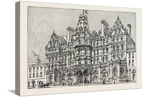 Weymouth: View of the Proposed New Grand Hotel--Stretched Canvas Print