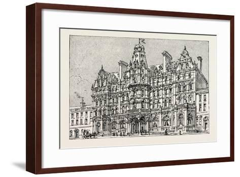 Weymouth: View of the Proposed New Grand Hotel--Framed Art Print