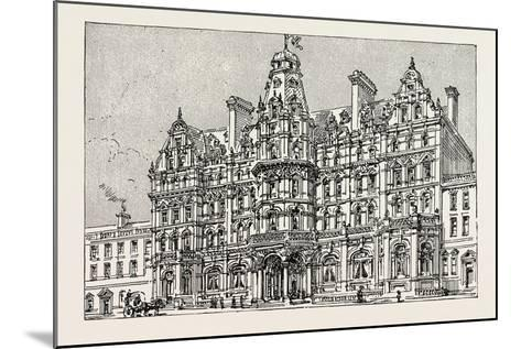 Weymouth: View of the Proposed New Grand Hotel--Mounted Giclee Print
