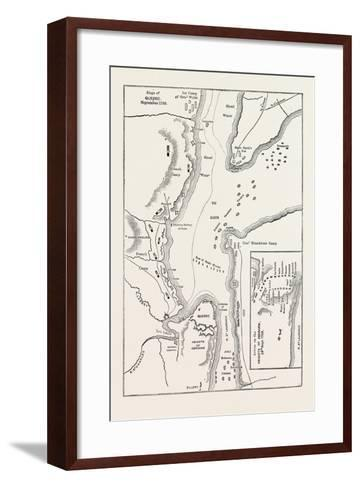 Plan of the Siege of Quebec, Canada, 1870s--Framed Art Print