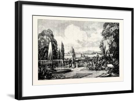The Vatican from Monte Pincio. Rome Italy--Framed Art Print