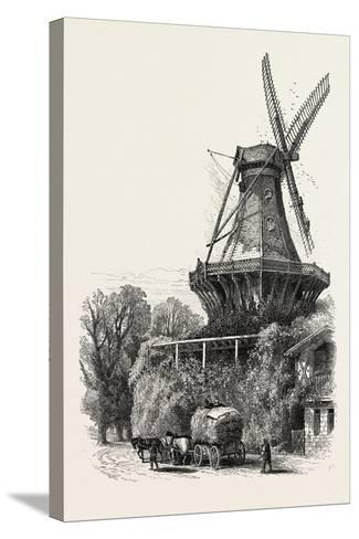 The Windmill, Potsdam, Germany, 19th Century--Stretched Canvas Print