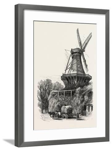 The Windmill, Potsdam, Germany, 19th Century--Framed Art Print