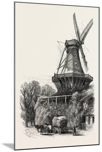 The Windmill, Potsdam, Germany, 19th Century--Mounted Giclee Print