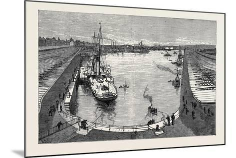The New Dock from the Hotel Holyhead 1880--Mounted Giclee Print