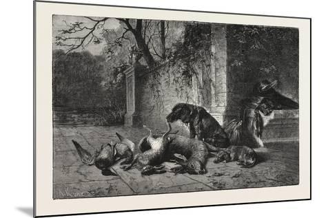 After the Hunt, Dogs, Deer, Hare, Ducks, 1876--Mounted Giclee Print