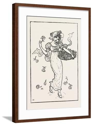 New Year. Kate Greenaway's Almanac, 1882--Framed Art Print