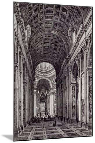 Rome, Italy, 1875, Nave of St. Peter's--Mounted Giclee Print