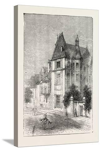 Scarron's House at Le Mans, France, 1871--Stretched Canvas Print