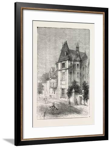 Scarron's House at Le Mans, France, 1871--Framed Art Print
