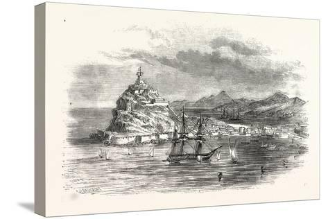 The Town and Harbour, of Ceuta, Morocco--Stretched Canvas Print
