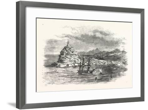 The Town and Harbour, of Ceuta, Morocco--Framed Art Print