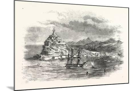 The Town and Harbour, of Ceuta, Morocco--Mounted Giclee Print