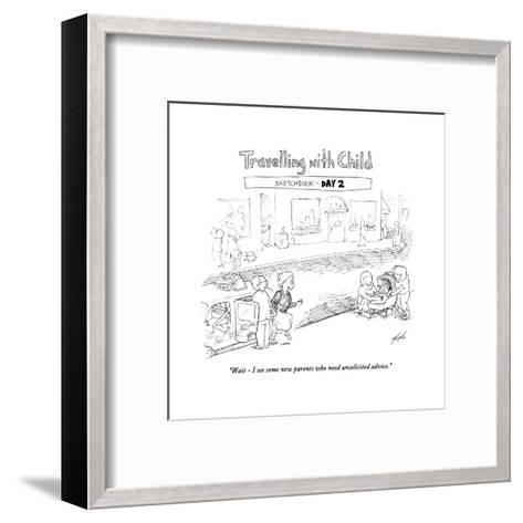 Traveling with Child - Day 2 - Cartoon-Tom Toro-Framed Art Print