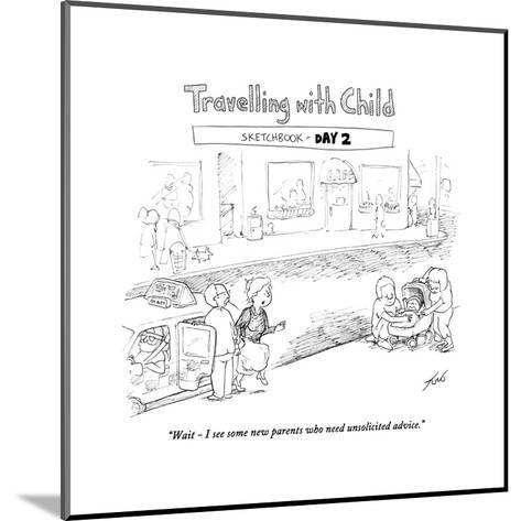 Traveling with Child - Day 2 - Cartoon-Tom Toro-Mounted Premium Giclee Print
