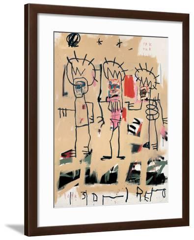 Untitled (Three Kings)-Jean-Michel Basquiat-Framed Art Print