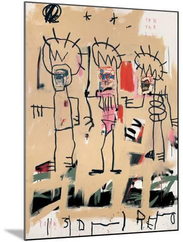 Untitled (Three Kings)-Jean-Michel Basquiat-Mounted Giclee Print
