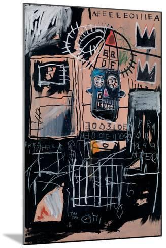 Untitled (Loans)-Jean-Michel Basquiat-Mounted Giclee Print