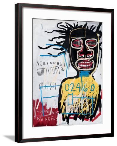 Self-Portrait as a Heel-Jean-Michel Basquiat-Framed Art Print