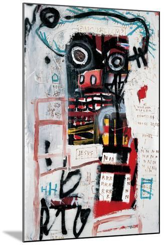 Number 1-Jean-Michel Basquiat-Mounted Giclee Print