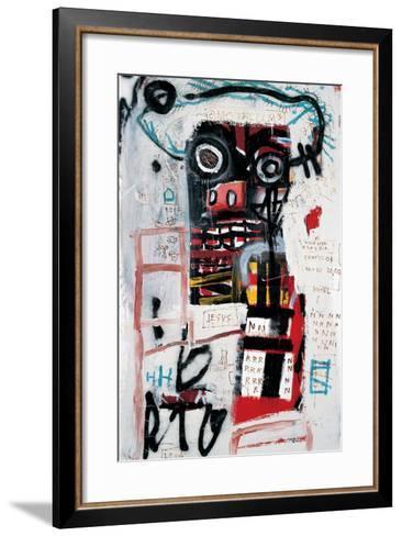 Number 1-Jean-Michel Basquiat-Framed Art Print
